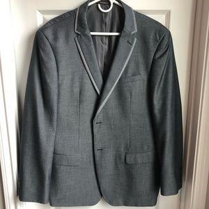 Men's Grey Italian Suit Jacket